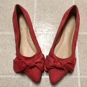 CHASE+CHLOE Dalena pointed toe Bow Tie Ballet Flat